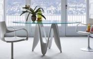 Okrúhle sklenené stoly