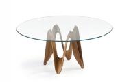 Stôl sklenený, drevený