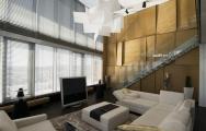 Luxusná drevená stena v obývačke na mieru