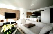 Moderné  obývačky s kuchyňou spolu, na mieru