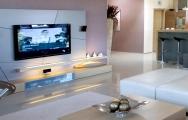 Moderná  obyvačková  stena, nábytok na mieru