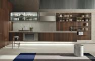 Minimalistické kuchyne s novým dizajnom, navrhnuté do tvaru L