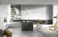 Luxusné kuchyne, Luxusné kuchyne biele lesklé, Luxusné kuchyne spojené s obývačkou obrázky, výroba