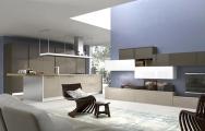 Luxusné kuchyne, Luxusné kuchyne spojené s obývačkou obrázky, s ostrovčekom