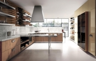 Luxusné kuchyne, Luxusné kuchyne spojené s obývačkou obrázky, Luxusné moderné kuchyne