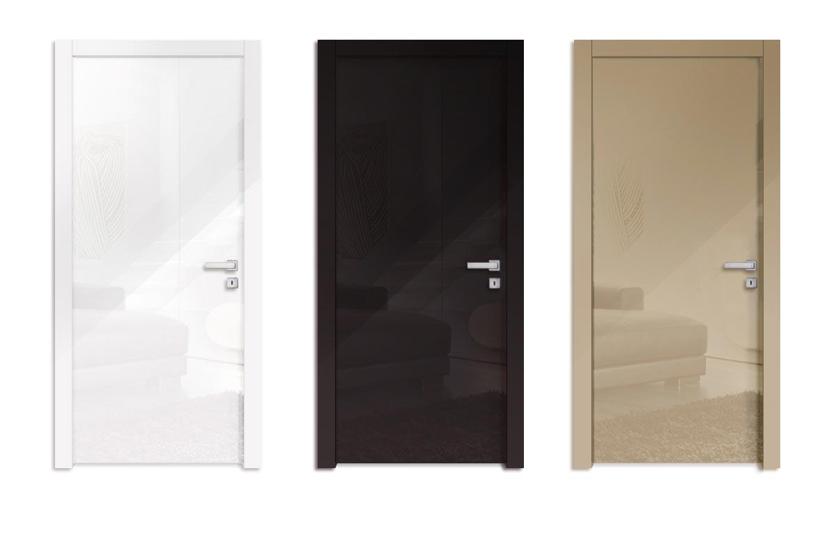 Moderné interiérové dvere biele lesklé na mieru