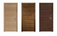 Moderné drevené dvere so zárubňou