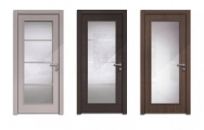 Moderné sklenené interiérové dvere so zárubňou na mieru