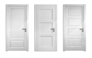 Moderné bezfalcové  interiérové dvere biele