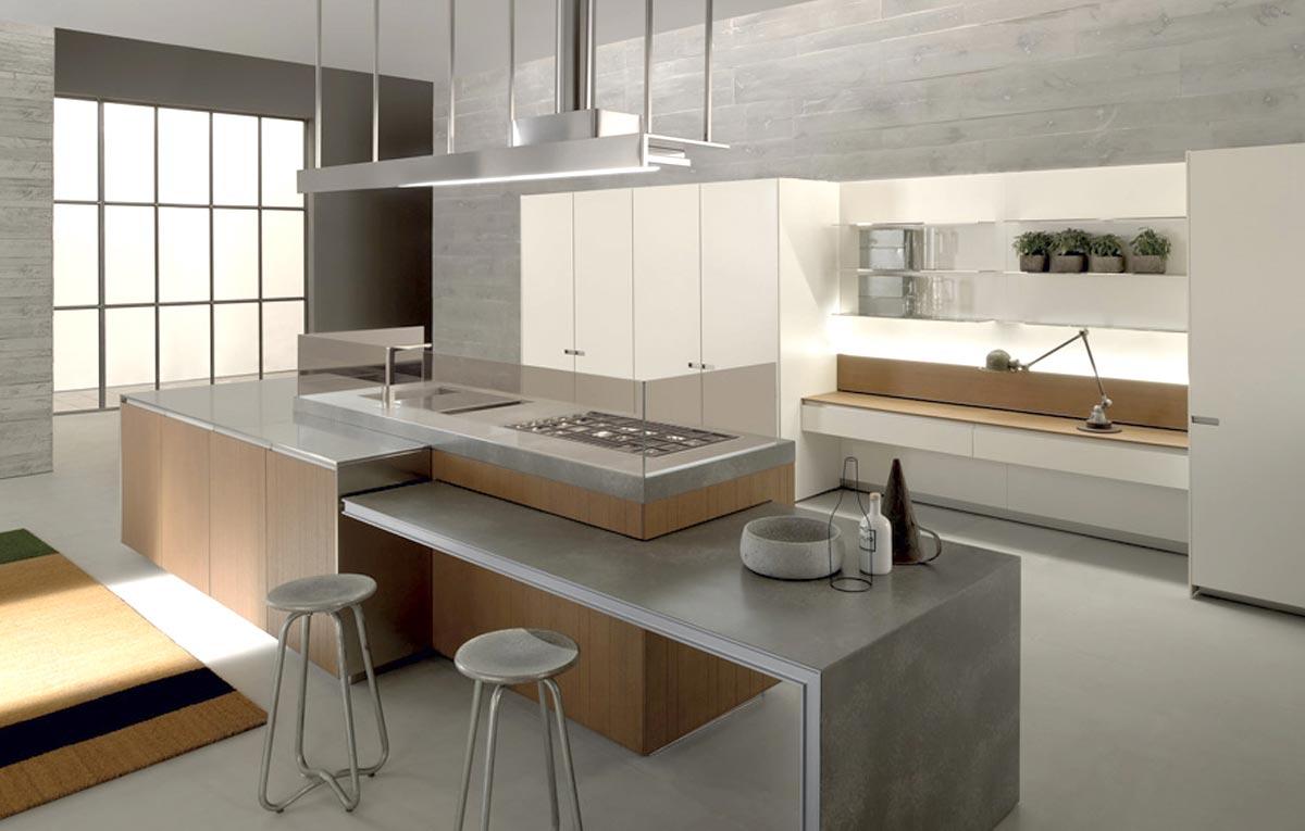 Moderná kuchyňa spojená s obývačkou