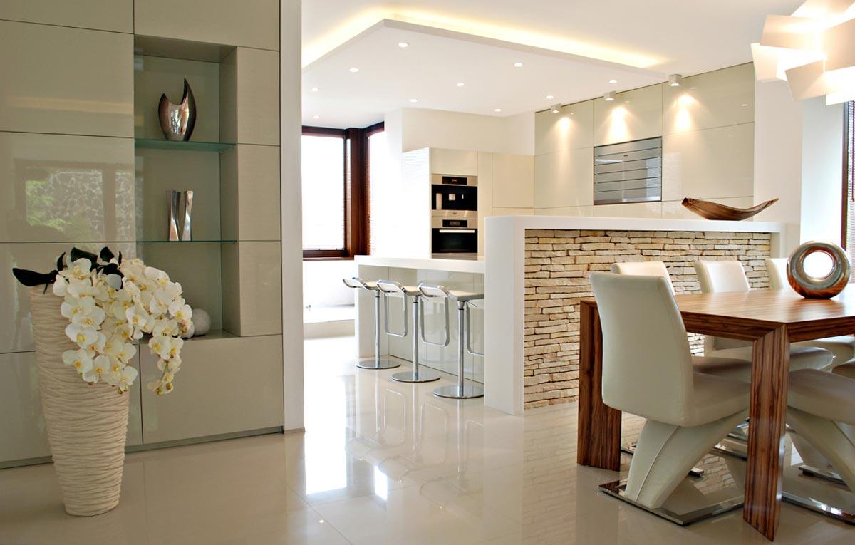 Luxusné kuchyne na mieru s obývačkou