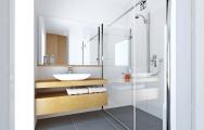 Návrh kúpeľnového nábytku v v prevedení  dubová dýha