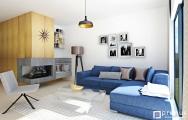 Moderná obývačka s kuchyňou