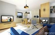 Moderná obývačka s kuchyňou1