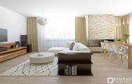 Dizajn luxusnej obývačky na mieru s krbom