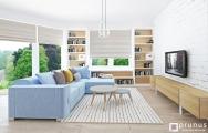 Moderná obývačka bytu Senec, návrh (vizualizácia) a realizácia I PRUNUS štúdio
