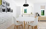 Interiér modernej jedálne bytu Senec, návrh (vizualizácia) a realizácia I PRUNUS štúdio