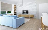 Interiér modernej obývačky bytu Senec, návrh (vizualizácia) a realizácia I PRUNUS štúdio