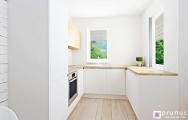 Moderná kuchyňa v tvare U bytu Senec, návrh (vizualizácia) a realizácia I PRUNUS štúdio