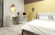 Teplé farby v luxusnej spálni na mieru, inšpirácie