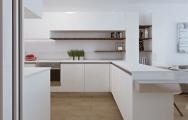 Moderná biela lesklá kuchyňa - dizajn, inšpirácie
