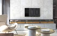 Obývačka s keramikou - interiérový dizajn a návrh