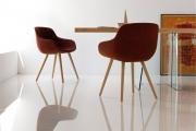 Moderné dizajnové jedálenské kreslo  a jedálenský stôl