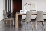 Štýlové stoličky do kuchyne šedé, látkové čalúnené