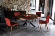 Moderné , dizajnové stoličky do jedálne látkové, kožené, orech, wenge, dub