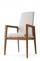 Moderná jedálenská stolička biela s područkami