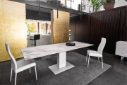 Luxusné kuchynské stoličky kovové biele