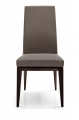 Moderná šedá čalúnená kuchynská stolička, drevená