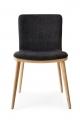 Luxusná jedálenská stolička látková,čierna