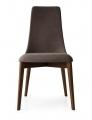 Moderné jedálenské stoličky šedé čalúnené, kožené, drevo