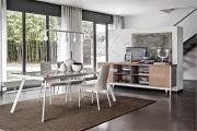 Luxusné talianske textilné jedálenské stoličky