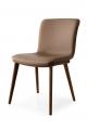 Jedálenská talianska stolička kožená, čalúnená, ekokoža  drevená