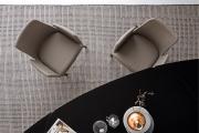 Moderné čalúnené kreslo do jedálne kožené, látkové