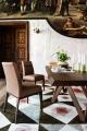Exkluzívne kožené jedálenské stoličky hnedé