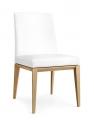 Moderné biele jedálenské  stoličky