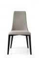 Moderné jedálenské stoličky šedé látkové, kožené, čierne nohy