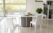 Jedálenské stoličky biele so stolom set