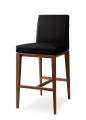 Moderné barové stoličky čalúnené, drevené