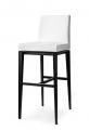 Moderné barové stoličky biele kožené do kuchyne