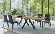 Štýlové jedálenské stoličky čalúnené modré