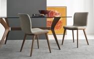kuchynské stoličky kuchynské šedé čalúnené látkové s drevenými nohami