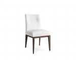 Biela jedálenská stolička, masív dub