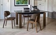 Moderné jedálenské stoličky drevené dub, orech