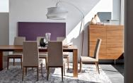 Moderné štýlové jedálenské stoličky drevené