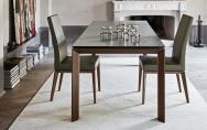 Moderné kožené jedálenské stoličky , drevené
