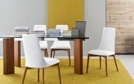 Exkluzívne jedálenské stoličky biele,  štýlové